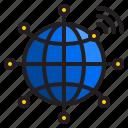 network, world, internet, globe, wifi