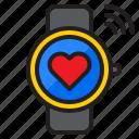 watch, smartwatch, internet, heart, wifi