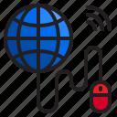 world, internet, globe, mouse, wifi