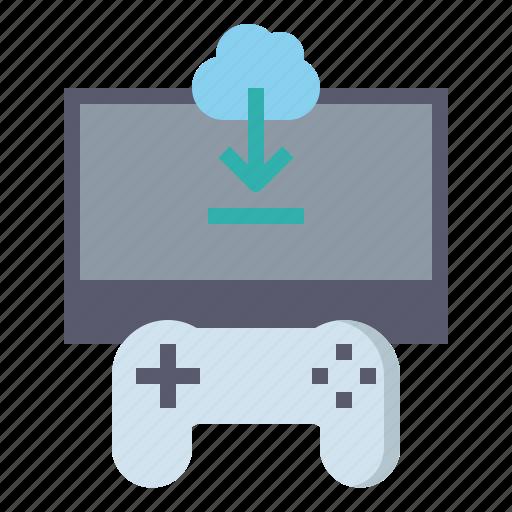 download, gaming, internet, online, world icon