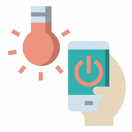 application, bulb, close, internet, light, open icon