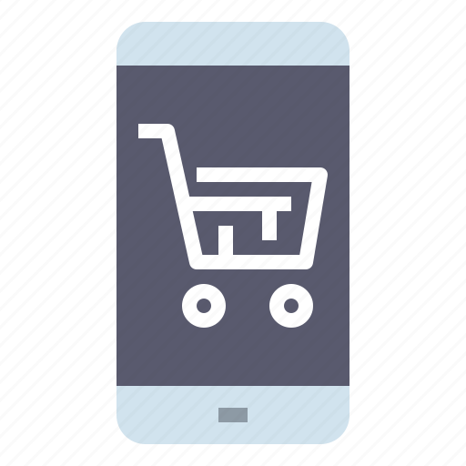 cart, online, shop, shopping, smartphone, store, supermarket icon