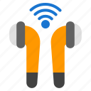earphone, airpods, wireless, music, sound, tech, audio