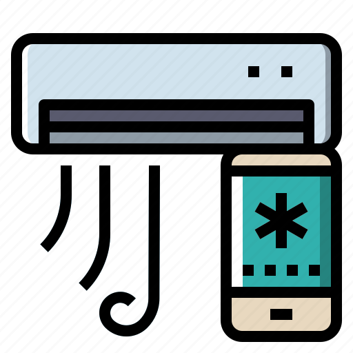 Air, conditioner, connect, cool, internet, technology icon - Download on Iconfinder