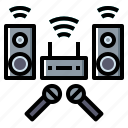 audio, karaoke, multimedia, sound, speaker icon