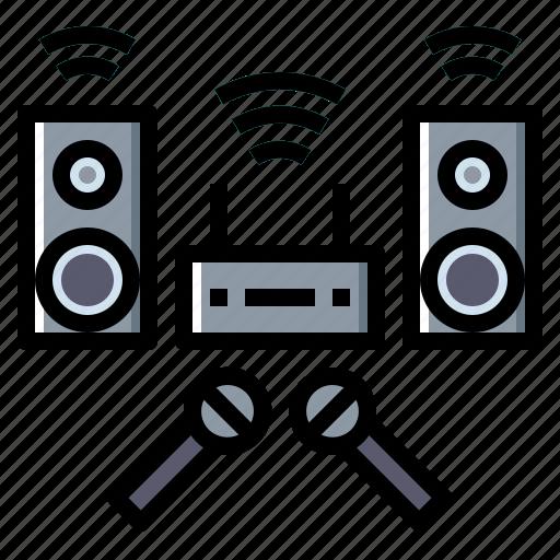 audio, karaoke, multimedia, sound, speaker icon