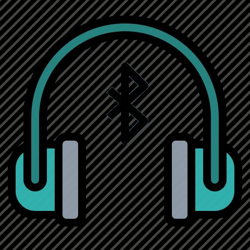 Bluetooth, device, earphones, headphones, internet icon - Download on Iconfinder