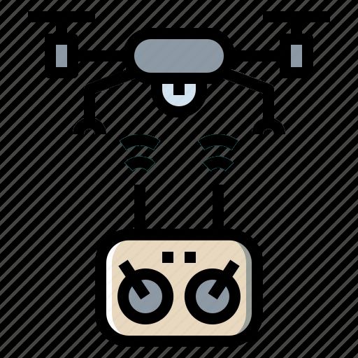 camera, device, drone, internet, network icon