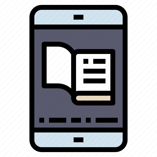 ebook, education, ereader, reading, study icon
