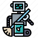android, electronics, industry, robot, robotics icon
