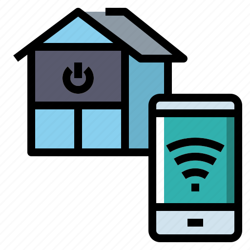 Estate, home, house, real, signal, smart, wifi icon - Download on Iconfinder