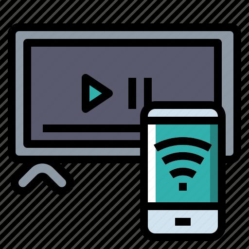 device, internet, monitor, multimedia, smart, tv icon