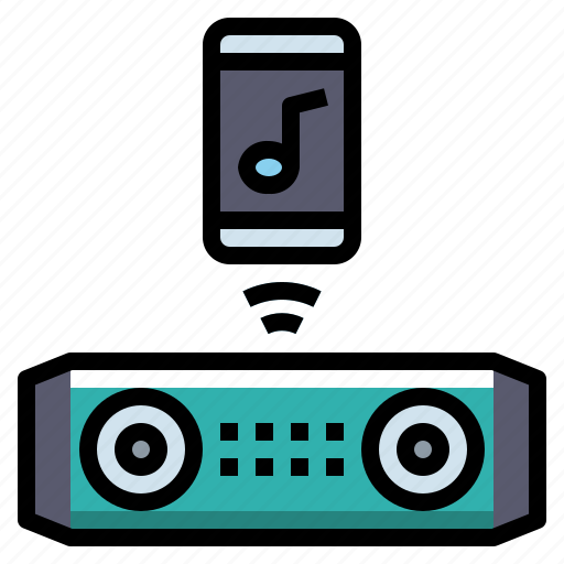 audio, bluetooth, music, speaker, wireless icon