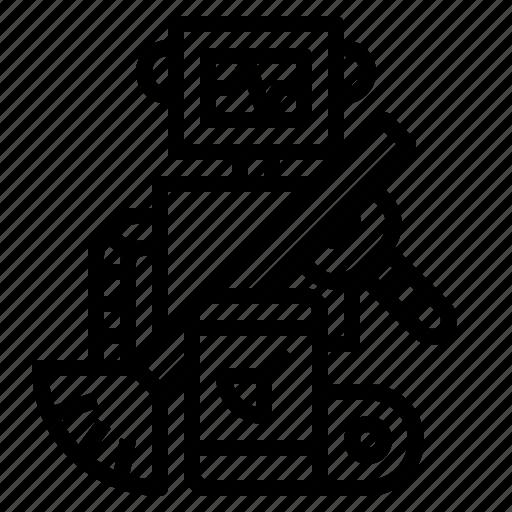 android, electronics, industry, robot, robotics icon