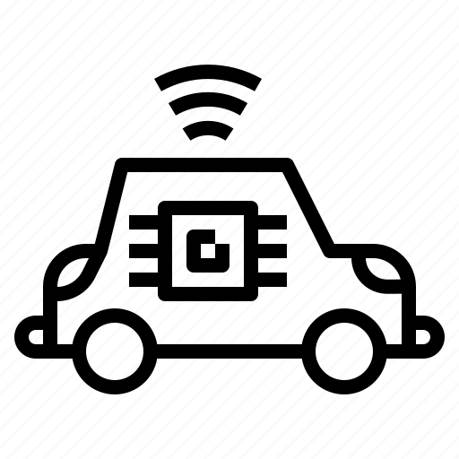car, radar, sensor, smart, transportation, vehicle icon