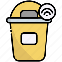 dustbin, recycle bin, trash, internet of things, iot