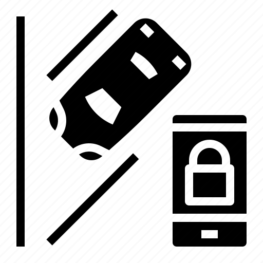 car, internet, key, parking, security icon