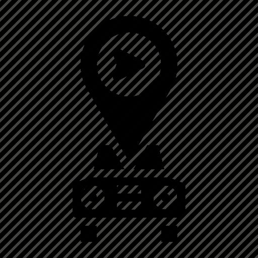 gps, internet, map, navigation, transportation icon