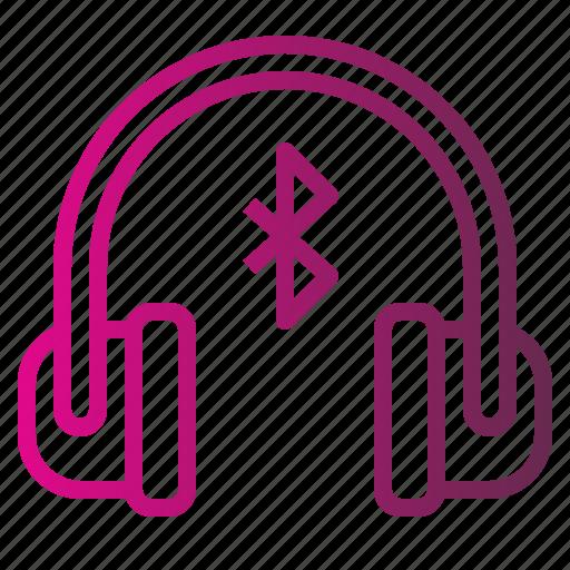 bluetooth, device, earphones, headphones, internet icon