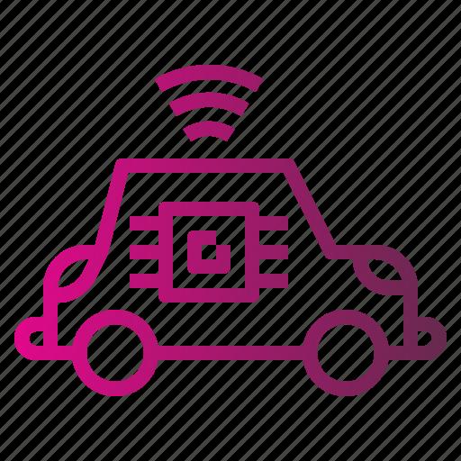 car, radar, sensor, smart, transportation, vehicle icon