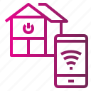 estate, home, house, real, signal, smart, wifi icon