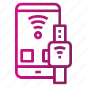connect, device, smartwatch, technology, wifi icon