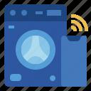 internet of things, iot, laundry, smart, washing machine icon