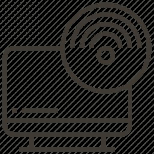 monitor, screen, signal icon
