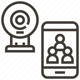 camera, device, people, record icon