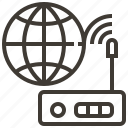 globe, router, signal, world icon