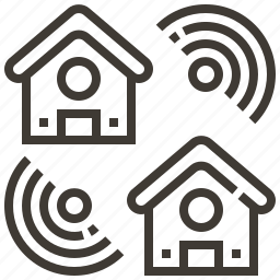 connection, home, house, signal icon