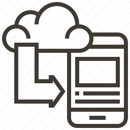 arrow, cloud, device, weather icon