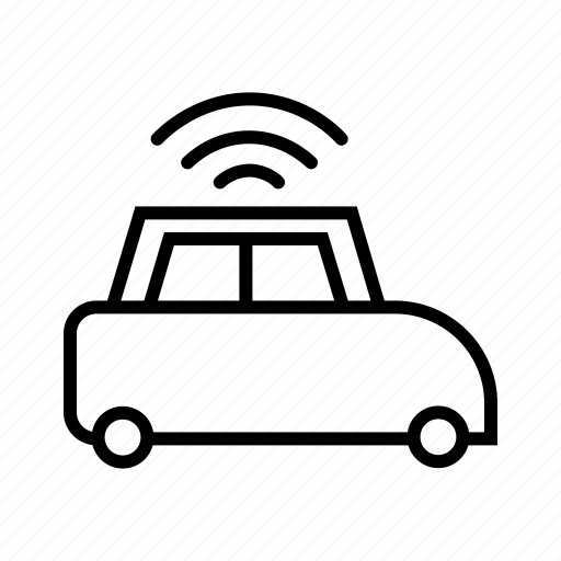 car, internet, internet of things, iot, smart car, vehicle, wifi icon