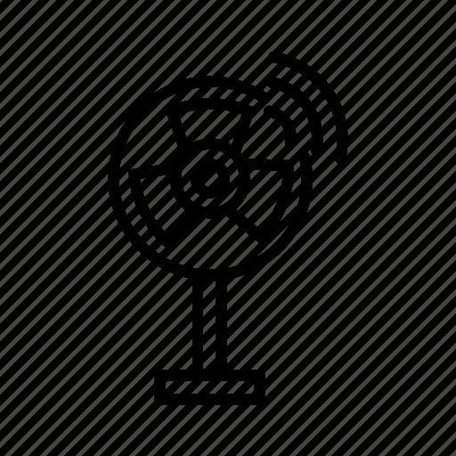 internet of things, iot, pedestal fan, smart fan, smart home, smarthome, wi-fi enabled fan icon