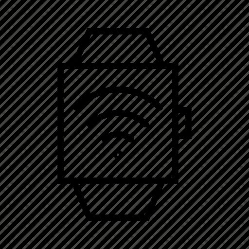 internet of things, iot, smart watch, technology, watch, wearable device, wrist watch icon