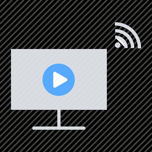 Internet of things, online streaming, online video, video, video streaming icon - Download on Iconfinder