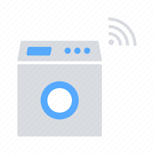 automation, home, internet, internet of things, iot, smart, washing machine icon