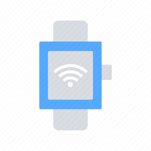 Wifi, communication, iot, smart watch, wireless, internet, internet of things icon