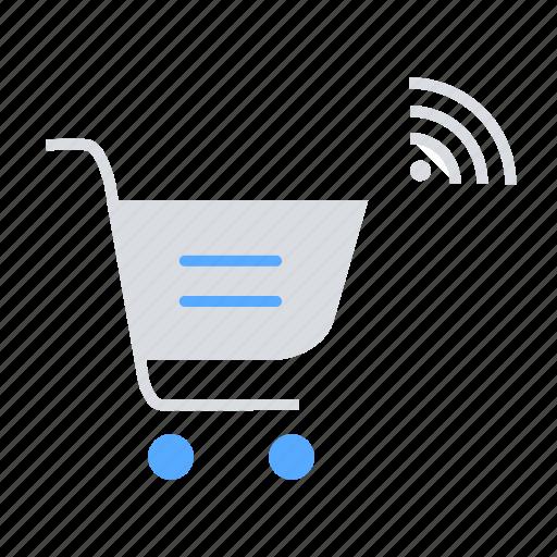 automation, ecommerce, iot, purchase, shopping cart, smart shopping icon