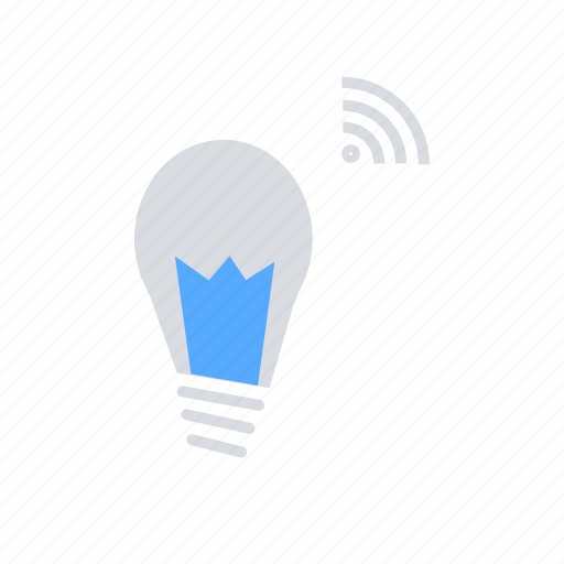 bulb, internet of things, iot, smart home, wifi, wireless icon
