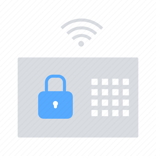 Home automation, internet of things, iot, security system, wireless connectivity icon - Download on Iconfinder