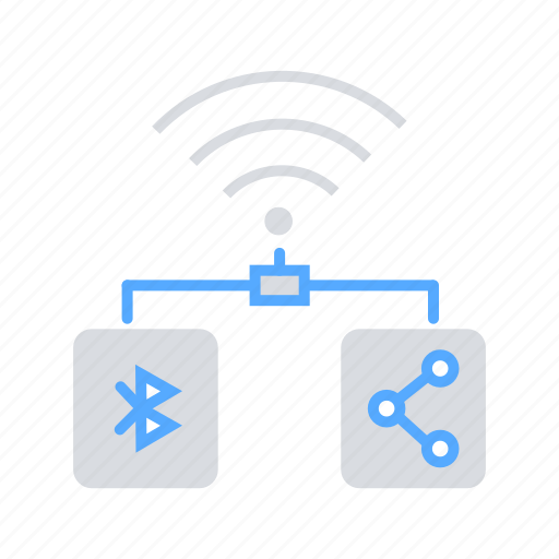bluetooth, communication, connectivity, internet of things, iot, share icon