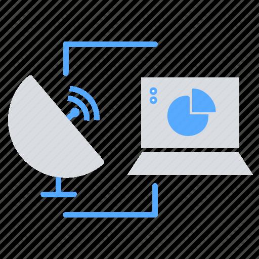 communication, data transfer, internet of things, satellite communication, wifi, wireless icon