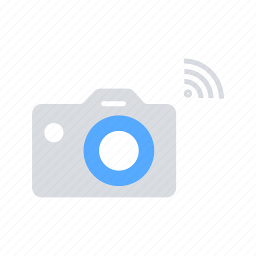 camera, data transfer, internet of things, iot, wifi, wireles icon