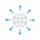 connectivity, global communication, global network, internet, internet of things, web service icon