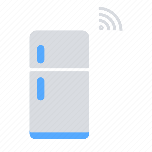 home appliances, home automation, internet of things, iot, refridgerator, wireless connectivity icon