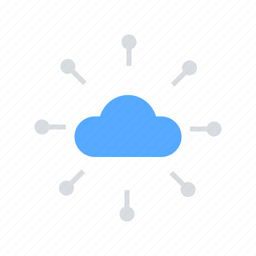 cloud network, cloud server, cloud storage, communication, internet icon