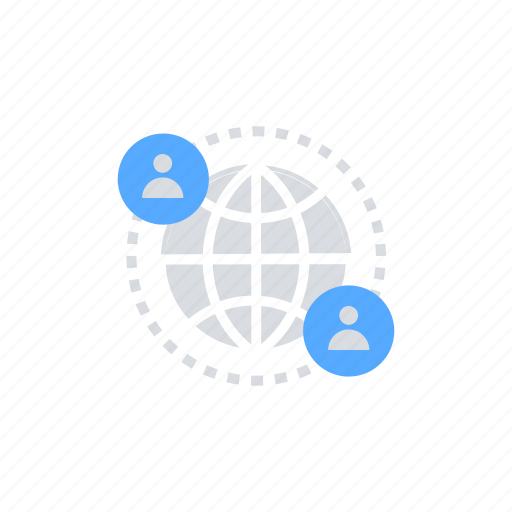 communication, connectivity, global network, global server, internet, iot icon