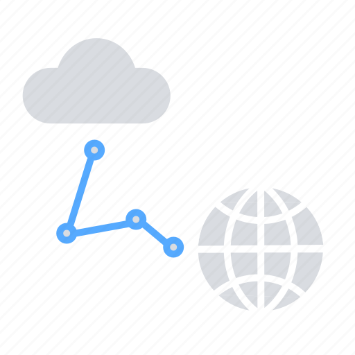 cloud network, cloud server, cloud storage, communication, global connectivity, internet icon