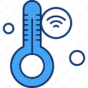 internet, thermometer, things, wifi